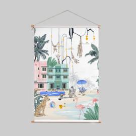 Textile poster - MIAMI BEACH