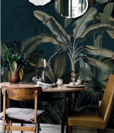 Behang - Wandgrote afbeelding - DREAMY JUNGLE DARK