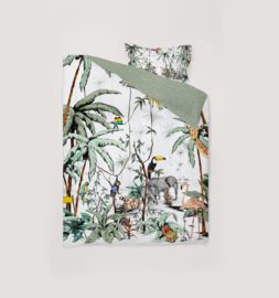 Toddler Bedding Set - JUNGLE TONAL 100x135cm
