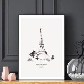 Mini poster A5 - Parijs
