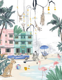 Jungle Behang - Wandgrote afbeelding - MIAMI BEACH
