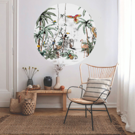 Round wall sticker - Jungle Tonal