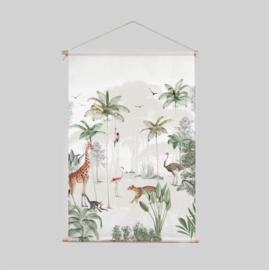 Textiel Poster - Wildlife's playground