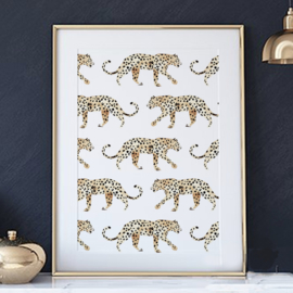 Mini poster A5 - Leopard