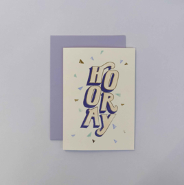 Greeting card - HOORAY