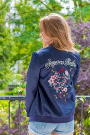 Jacket - Embroidered Floral Snake
