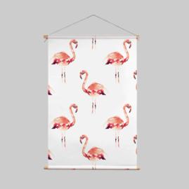 Textielposter - FLAMINGO
