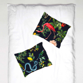 Pillowcase - GARDEN OF EDEN night navy- 1 cover