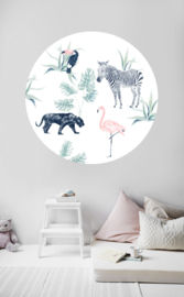 Round wall sticker - Chiq Safari