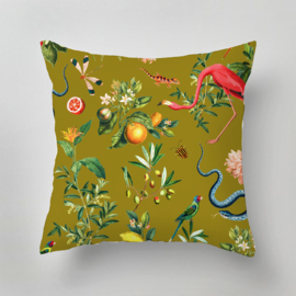 Pillow - GARDEN OF EDEN olive gold