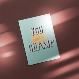 Ansichtkaart - CHAMP