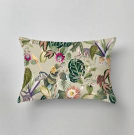 Outdoor pillow - BOLD BOTANICS green