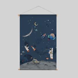 Textiel Poster - Into The Galaxy dark