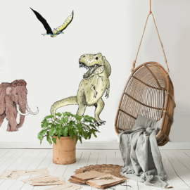 Set of 3 wall stickers Prehistoric