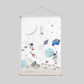 Textile Poster - Into The Galaxy light