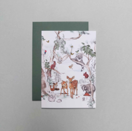 Greeting card - MAGICAL FOREST