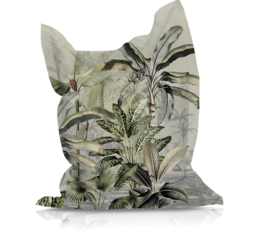 Beanbag DREAMY JUNGLE GREEN - suitable for indoor and outdoor use