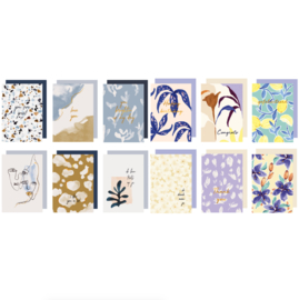 Set 12 Greeting cards - ABSTRACT & ARTY BOTANICS
