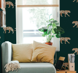 Leopard Wallpaper - LEOPARD GREEN