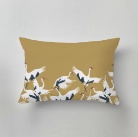 Pillow - Stork gold