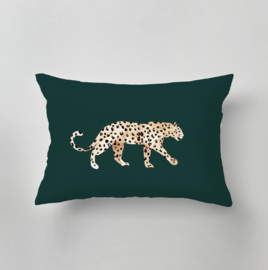 Tuinkussen - LEOPARD PLACEMENT green