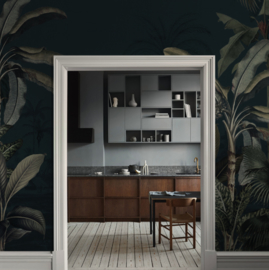 Jungle Behang - Wandgrote afbeelding - DREAMY JUNGLE DARK