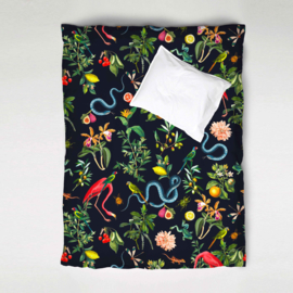 Duvet Cover Set GARDEN OF EDEN night navy - single