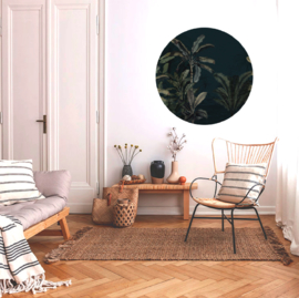 Round wall sticker - Dreamy Jungle Dark