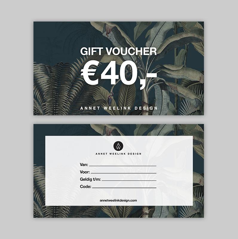 Tegoedbon - 40 euro