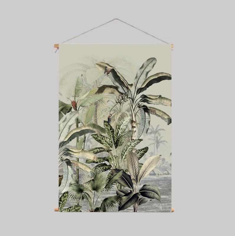 Textielposter - DREAMY JUNGLE GREEN