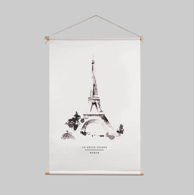 Textile Poster - PARIS