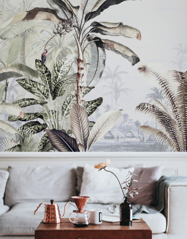 Jungle Behang - Wandgrote afbeelding - DREAMY JUNGLE SOFT