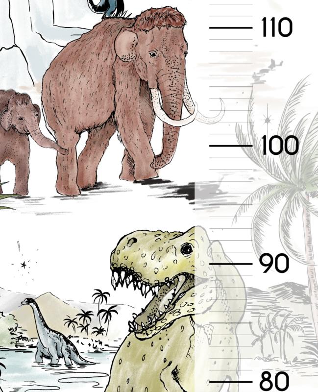 Groei sticker Prehistoric