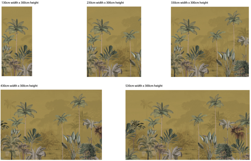 Jungle Behang - Wandgrote afbeelding - TROPICAL WILDERNESS ochre
