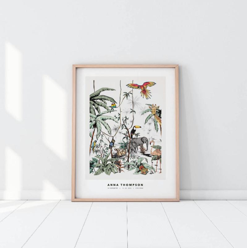Gepersonaliseerde Poster - Jungle Tonale Kleuren