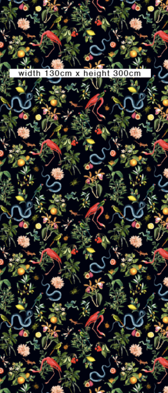 Wallpaper - GARDEN OF EDEN - night navy