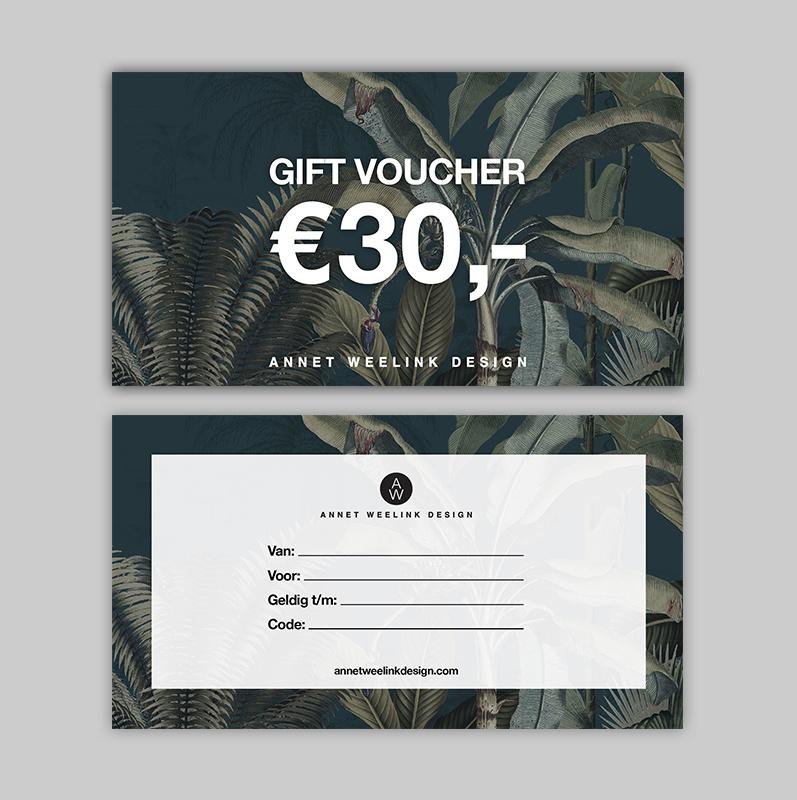 Tegoedbon - 30 euro