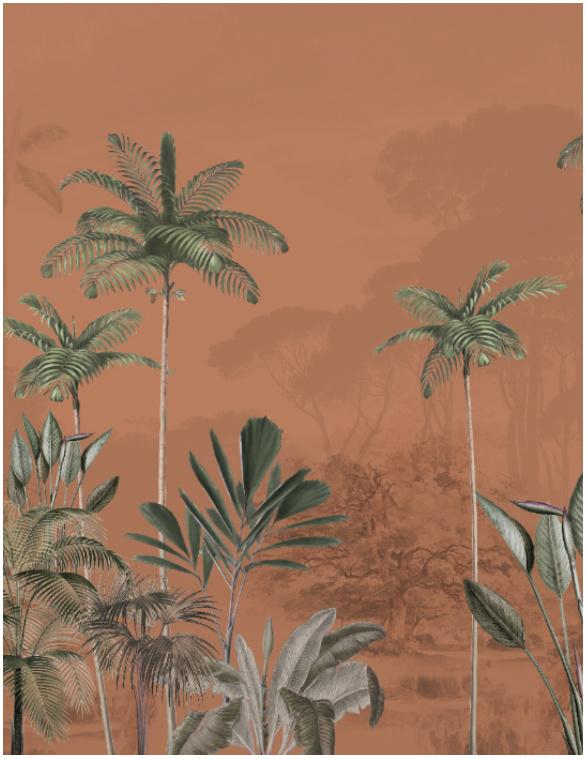 Jungle Behang - Wandgrote afbeelding - TROPICAL WILDERNESS ginger