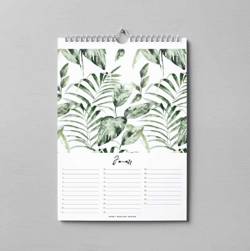 Verjaardagskalender - INTO THE JUNGLE - A4