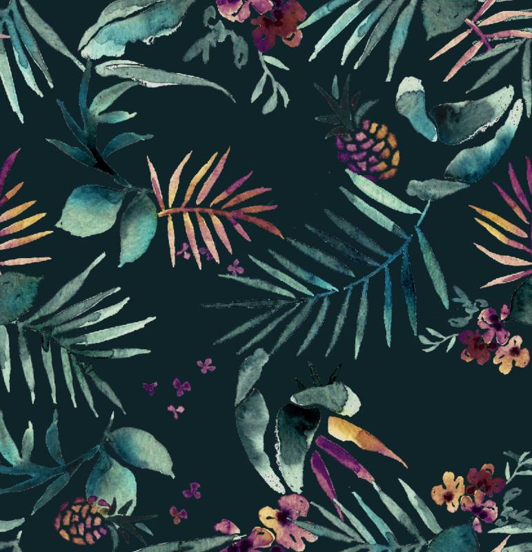 Jungle Behang - DARK TROPIC