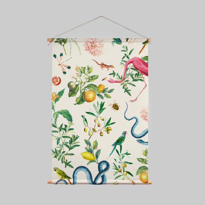 Textile Poster - GARDEN OF EDEN soft marshmellow