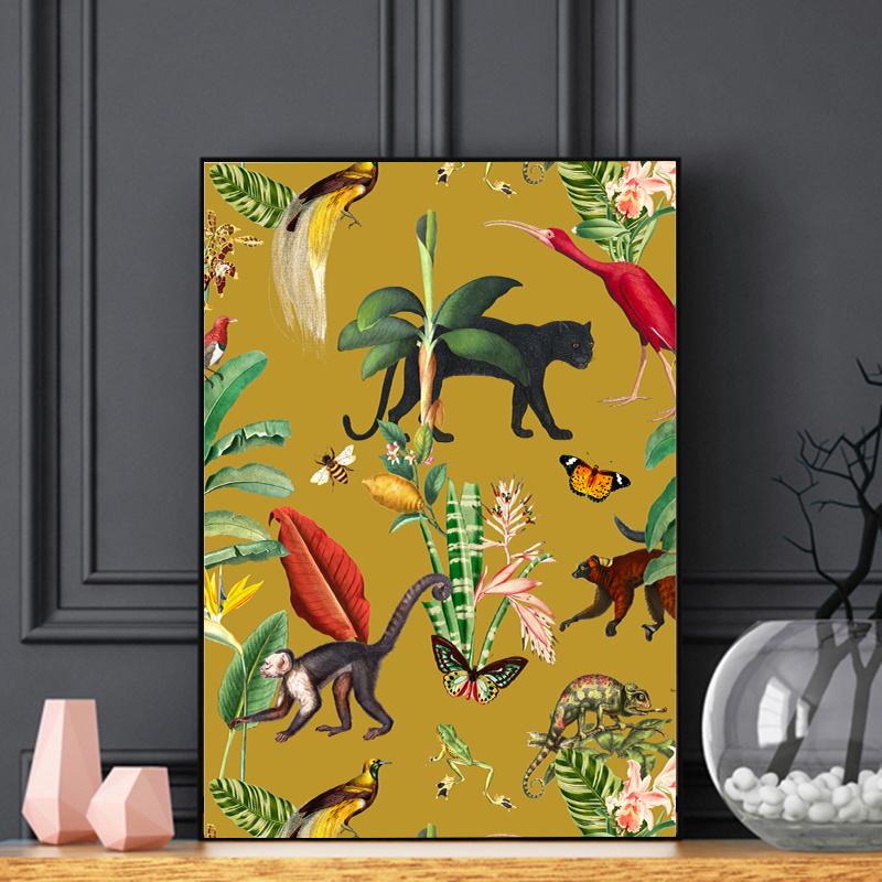 Poster - KINGDOM ANIMALIA GOLD OCHRE  - A5, A4, A3, A2