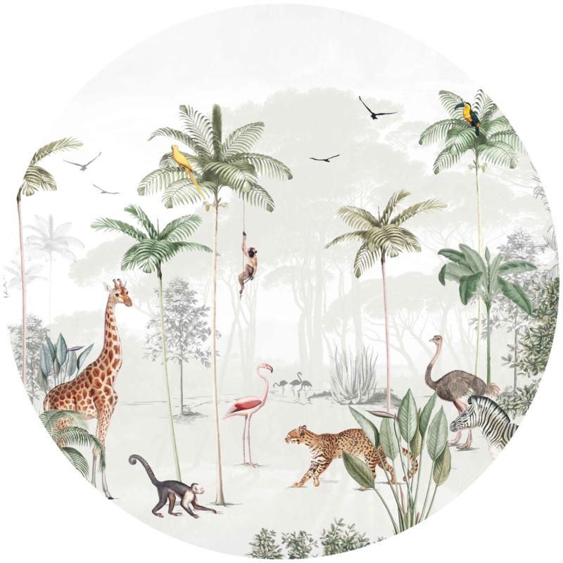 Round wall sticker - Wildlife's Playground