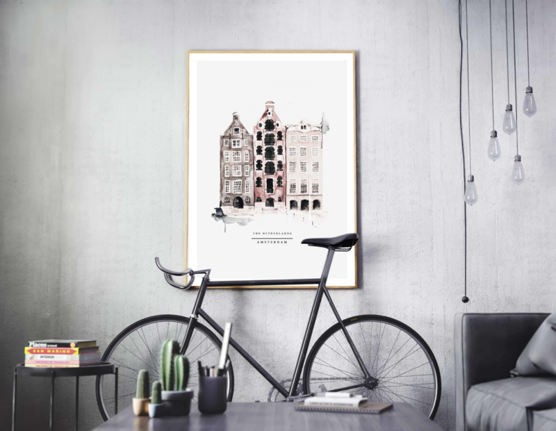 Poster - AMSTERDAM  - A5, A4, A3, A2