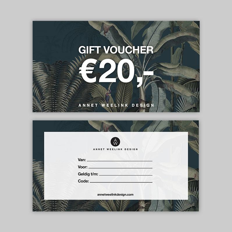Tegoedbon - 20 euro