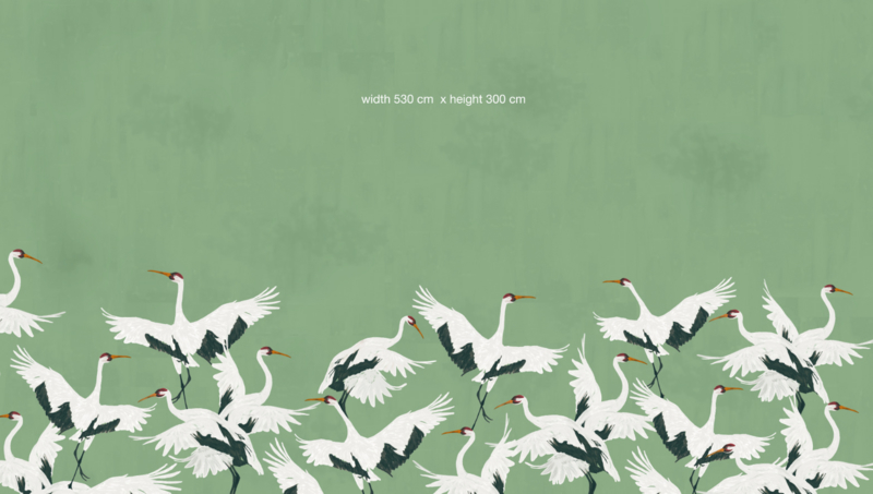 Wallpaper - Full wall sized image - STORK GREEN