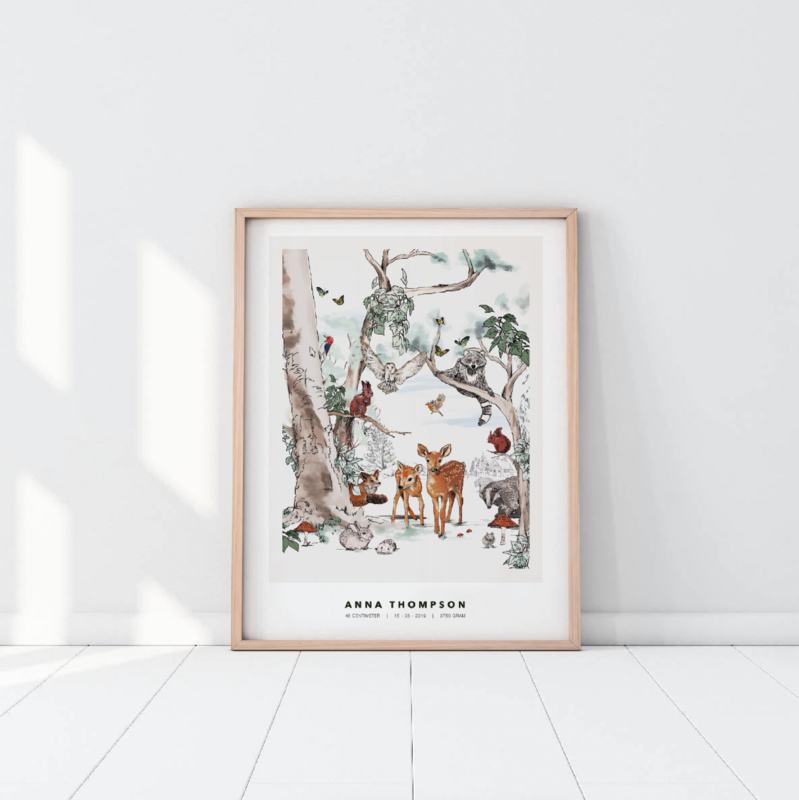 Gepersonaliseerde Poster - Magical Forest