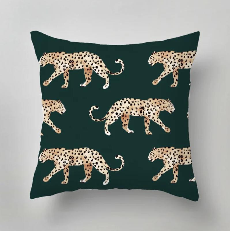 Tuinkussen - Leopard green