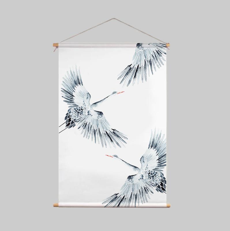 Textielposter - CRANES