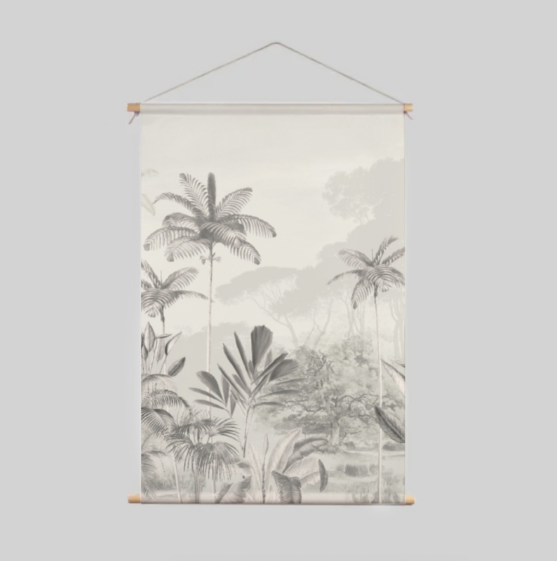 Textile Poster - Tropical Wilderness Beige